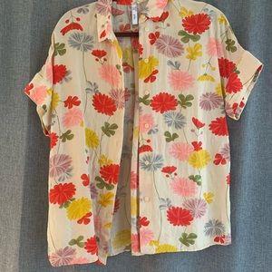 MANGO floral blouse